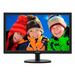 "Philips 21.5"" 223V5LSB2 (10/62) черный TN+film LED 5ms 16:9 матовая 200cd 1920x1080 D-Sub 2.61кг"